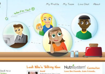 Nutrisystem Web Illustration